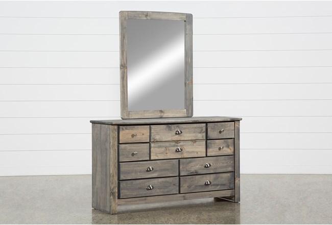 Summit Grey Dresser/Mirror - 360