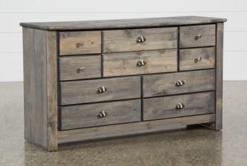 Summit Grey 9 Drawer Dresser
