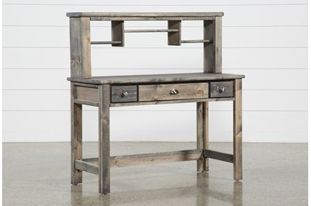 Summit Grey Desk/Hutch