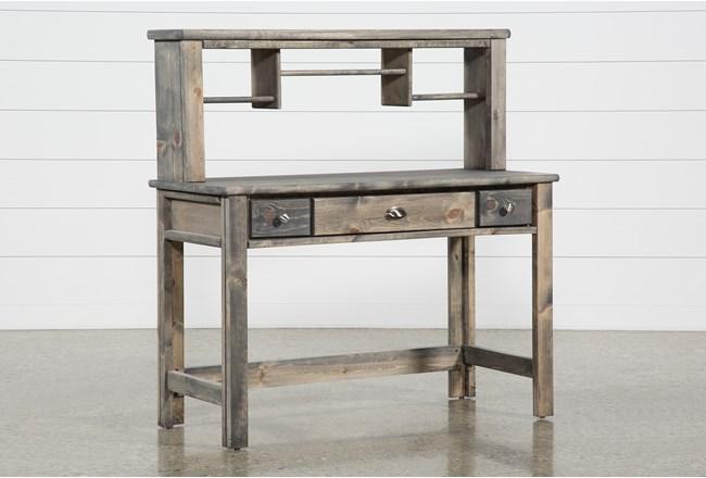 Summit Grey Desk/Hutch - 360