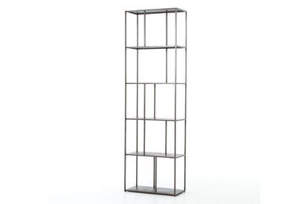 Gunmetal Narrow  Bookshelf