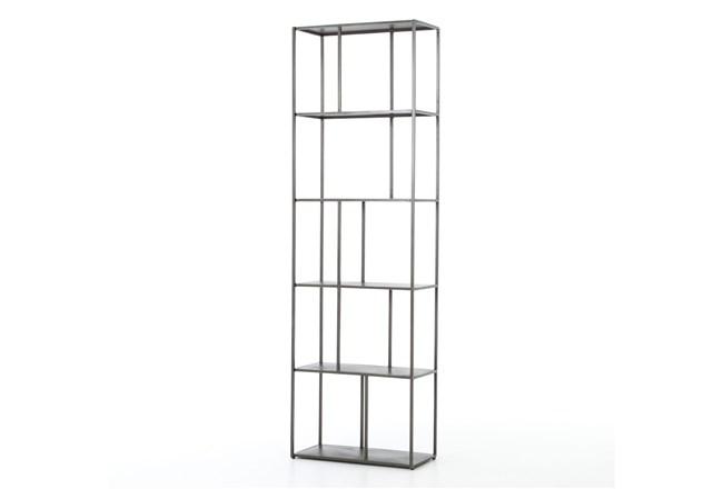Gunmetal Narrow  Bookshelf - 360