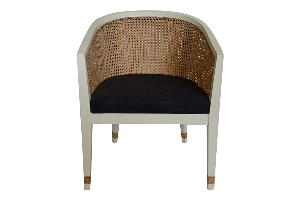White + Black Cane Chair By Nate Berkus and Jeremiah Brent