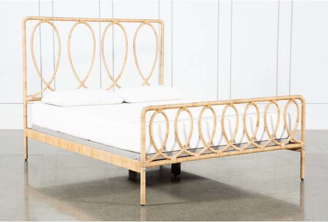 Wrapped Cane Eastern King Bed By Nate Berkus and Jeremiah Brent - 360