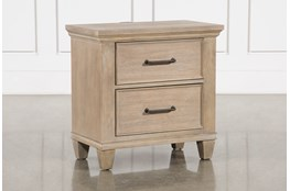 "Meridian 29"" Nightstand With USB"