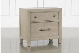 "Conrad Grey 29"" Nightstand With USB"