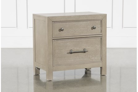 Conrad Grey Nightstand With USB - Main