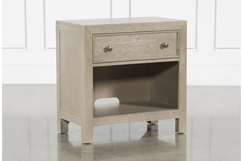 Conrad Grey Open Nightstand With USB