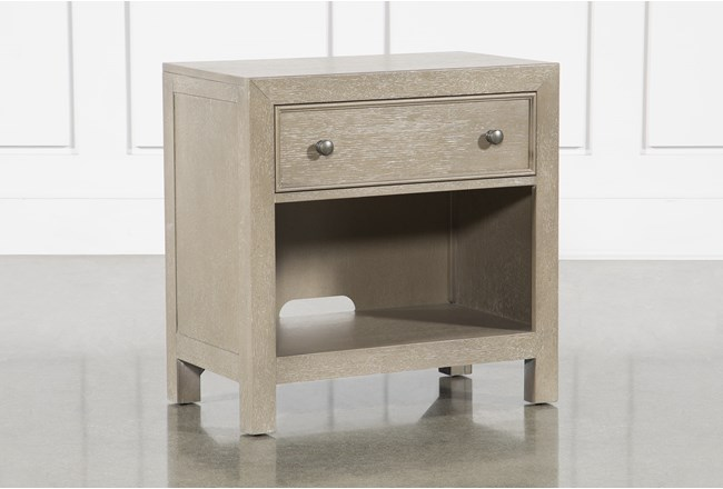 Conrad Grey Open Nightstand With USB - 360
