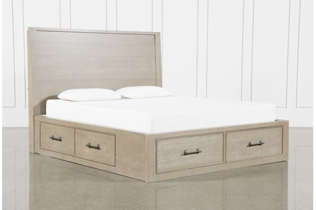 Conrad Grey California King Panel Bed With Storage