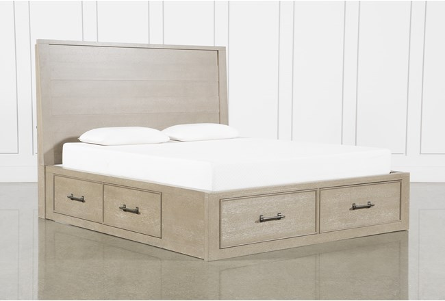 Conrad Grey Eastern King Panel Bed With Storage - 360