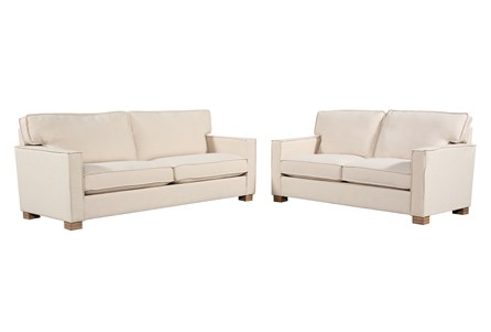 Magnolia Home Ravel Linen Sofa and Loveseat