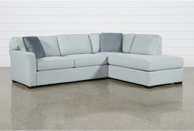 Aspen Tranquil Foam 2 Piece Sleeper Sectional With Right Arm Facing Armless Chaise - 360