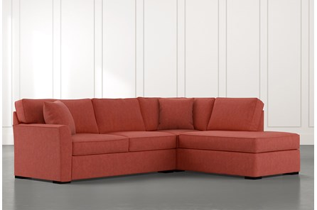 Aspen Red 2 Piece Sleeper Sectional With Raf Chaise
