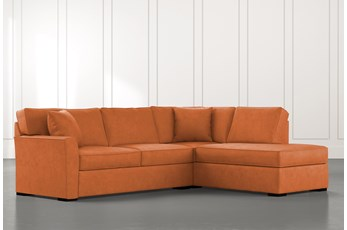 Aspen Orange 2 Piece Sleeper Sectional With Raf Chaise