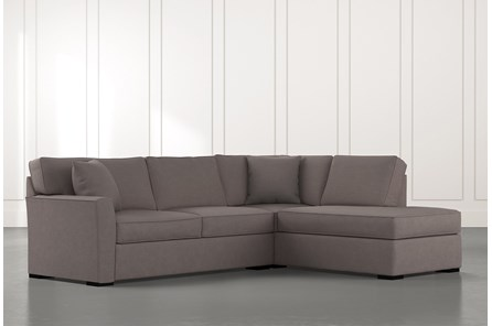 Aspen Dark Grey 2 Piece Sleeper Sectional With Raf Chaise
