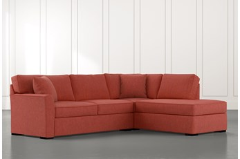 Aspen Red 2 Piece Sectional with Right Arm Facing Chaise