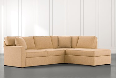 Aspen Yellow 2 Piece Sectional with Right Arm Facing Chaise