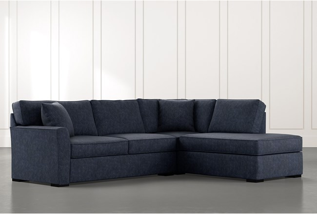 Aspen Navy Blue 2 Piece Sectional with Right Arm Facing Chaise - 360