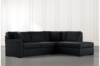 Aspen Black 2 Piece Sectional With Raf Chaise