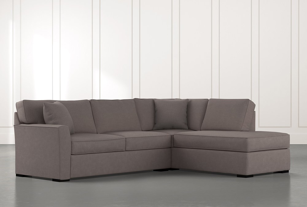 Aspen Dark Grey 2 Piece Sectional with Right Arm Facing Chaise