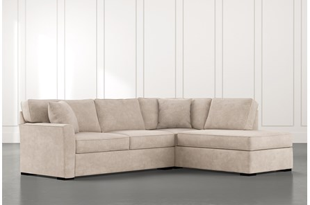 Aspen Beige 2 Piece Sectional With Raf Chaise