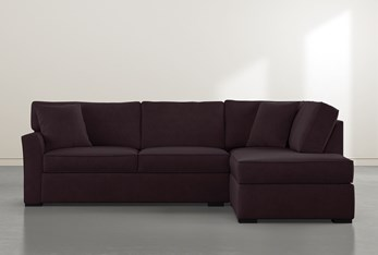 """Aspen Purple Foam 2 Piece 108"""" Sectional With Right Arm Facing Armless Chaise"""