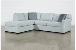"""Aspen Tranquil Foam 2 Piece 108"""" Sectional With Left Arm Facing Armless Chaise"""