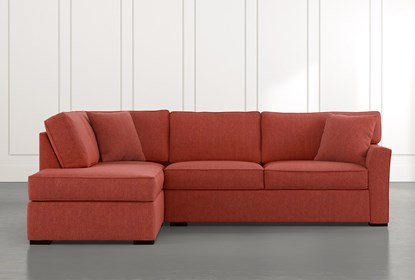 Aspen Red 2 Piece Sectional with Left Arm Facing Chaise