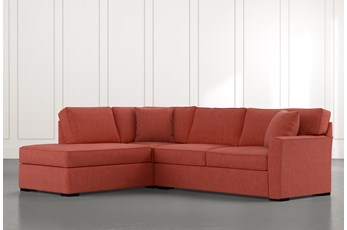Aspen Red 2 Piece Sectional With Laf Chaise