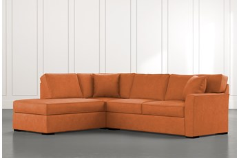 Aspen Orange 2 Piece Sectional With Laf Chaise