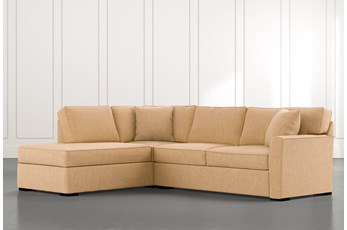 Aspen Yellow 2 Piece Sectional with Left Arm Facing Chaise