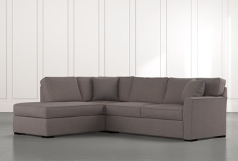 Aspen Dark Grey 2 Piece Sectional with Left Arm Facing Chaise