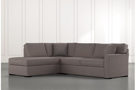 Aspen Dark Grey 2 Piece Sectional With Laf Chaise