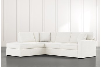 Aspen White 2 Piece Sectional With Laf Chaise