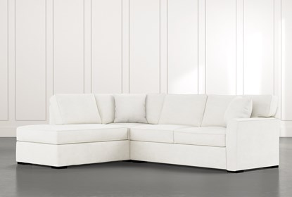 Aspen White 2 Piece Sectional With Left