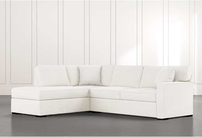 Aspen White 2 Piece Sectional with Left Arm Facing Chaise - 360