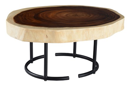 Round Tree Stump Pattern Coffee Table