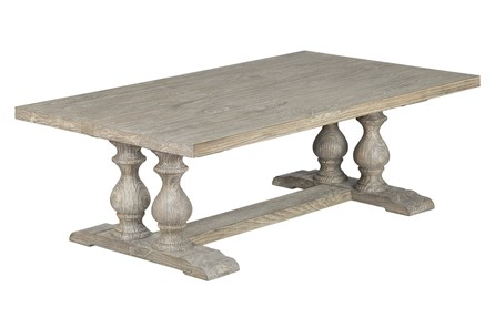 White Wash Pillar Coffee Table