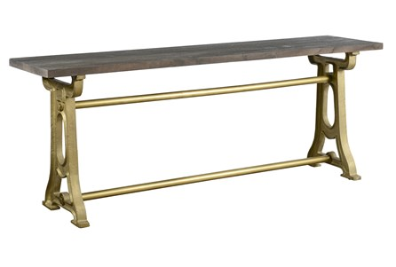 Mixed Metal Console Table Base