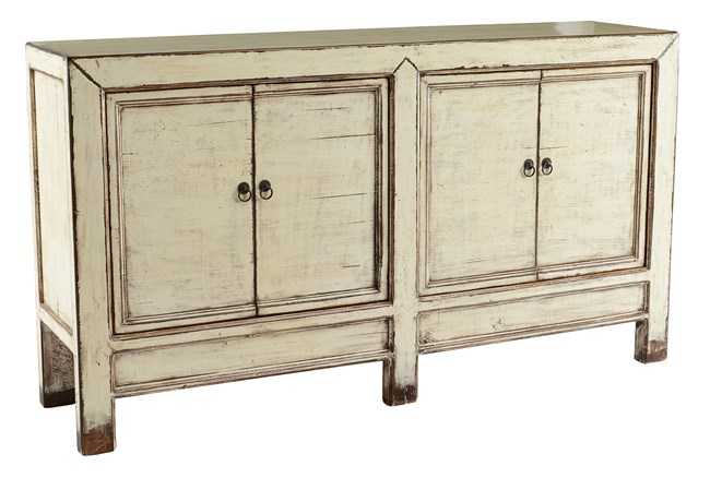 Distressed White Sideboard  - 360