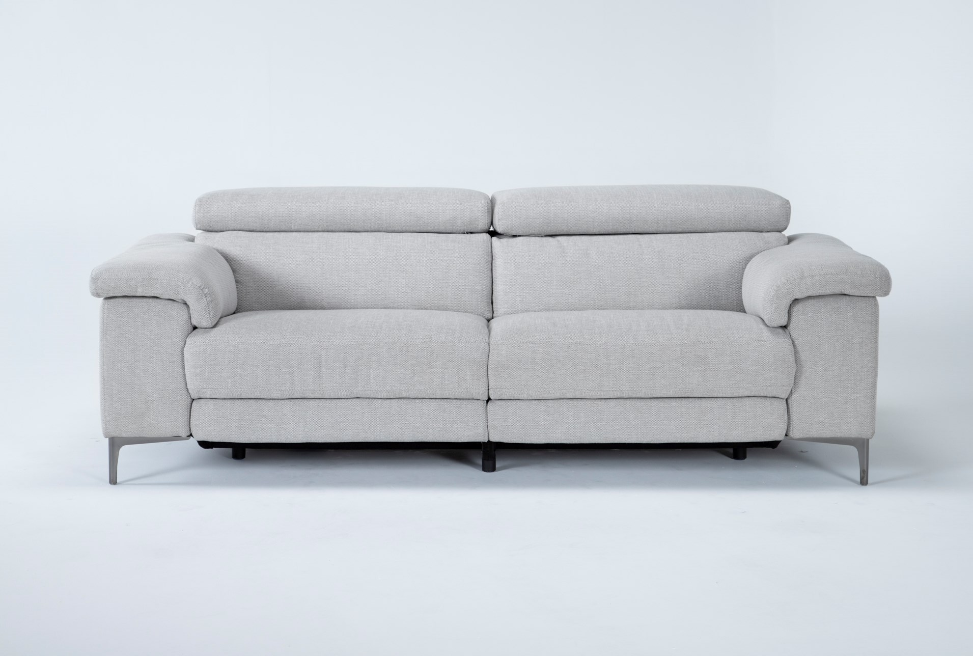 Talin Linen 85 Power Reclining Sofa, Fabric Living Room Sets With Recliner