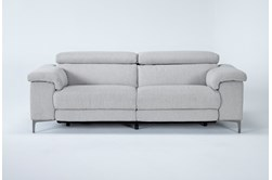 "Talin Linen 85"" Power Reclining Sofa With Usb"