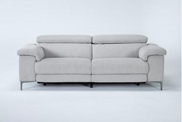 "Talin Linen 85"" Power Reclining Sofa With Usb"