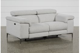Talin Linen Power Reclining Loveseat With Usb