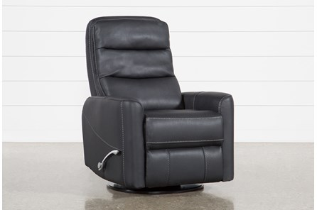 Hercules Black Swivel Glider Recliner