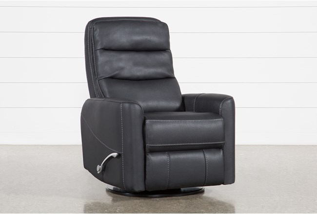 Hercules Black Swivel Glider Recliner - 360