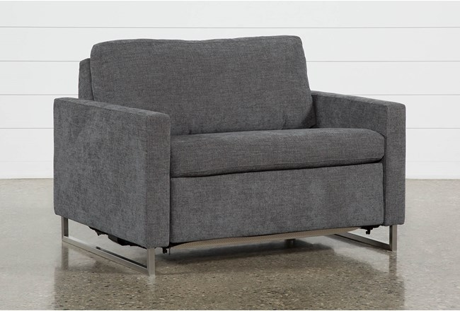 Branson Charcoal Twin Sofa Sleeper - 360