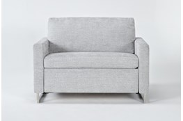 "Branson Light Grey 52"" Twin Sofa Sleeper"
