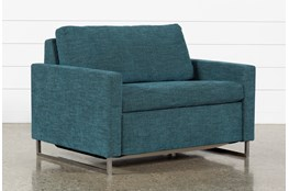 "Branson Teal 52"" Twin Sofa Sleeper"